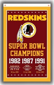 Washington redskins Football Champion Memorable Flag 90x150cm 3x5ft Super Banner
