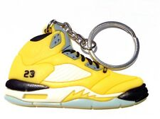 AIR JORDAN V 5 RETRO TOKYO T23 YELLOW SUPREME OG SNEAKERS SHOES KEY CHAIN RING