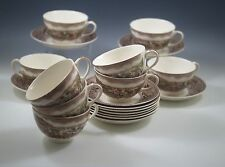 VTG JOHNSON BROS HISTORIC AMERICA set of 11 CUPS AND SAUCERS, IN SAN FRANCISCO