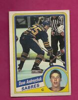 1984-85 OPC # 17 SABRES DAVE ANDREYCHUK EX+ ROOKIE CARD (INV# 9189)