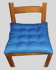 4 Coussins Galette Dessus de chaise bleu