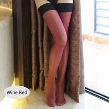 Sexy Women Sheer Fashion Lace Top Slim Thigh High Stockings Silk Skinny Hold Ups