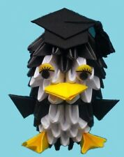 DIY 3D Origami Penguin Scholar Kit - Paper Modules - New - Free Shipping