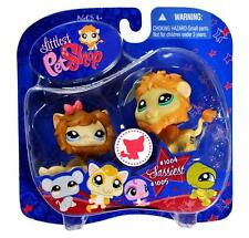 Littlest Pet Shop Hasbro Sassiest LION lot #1004 LION CUB Cat #1005 Retired NIB