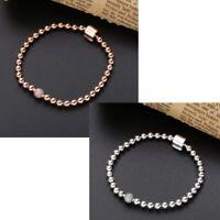 925 Sterling Silver Moments Beads & Pavé Bracelet Rose NEW
