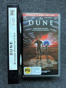 Dune VHS Special 3 Hour Edition Movie Video 1984 Kyle MacLachlan Sting Smithee