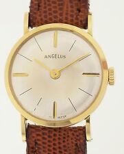 Angelus orologio da polso da donna in 18ct ORO-più raramente classico dai 1960er anni