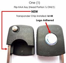 Uncut flip key head keyless entry replacement Transponder chip immobilizer 753E