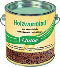 10 x 0,75 L Holzschutzmittel Holzwurmtod farblos KLUTHE - gegen Holzschädlinge !