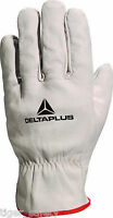 X12 Pairs Delta Plus Venitex FBN49 Grey Full Grain Leather Quality Safety Gloves