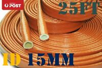 15MM Firesleeve Fire Jacket Heat Protection fits AN6 AN8 Braided Fuel Hose 25FT