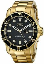 Invicta 15351 Pro Diver Black Dial Gold Plated Chronograph Men's Watch
