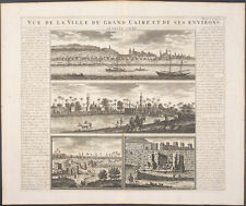 Chatelain - Egypt; View of Cairo & Surrounding - 1718 Atlas Historique Engraving