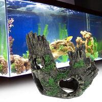 Aquarium Bole Trunk Driftwood Hiding Cave Fish Tank Resin Ornament Decoration