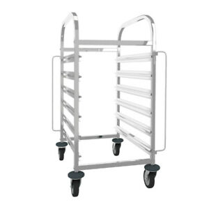 6 Sheet Stainless Steel Kitchen Bakery Cooling Rack Food Trolley Racking Trolley