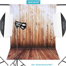 Neewer 5x7ft 100% Polyester Wooden Cotton Backdrop Background for Photo Studio