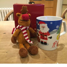 AVON CHRISTMAS MUG AND PLUSH~REINDEER SHELF SITTER TOY