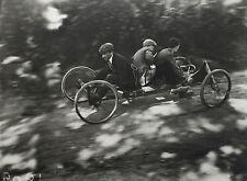 """Jacques-Henri LARTIGUE: Zissou conduisant son """"Bob a 4 roues"""", 1910 / BLINDSTAMP"""