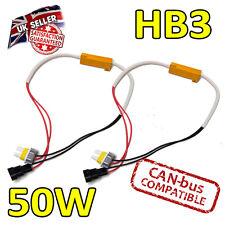 2 x hb3 50w LED Errore cancelers 6ohm LED Fog Lights-Errore sicuro Free-CANBUS