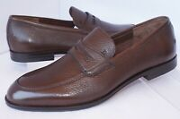 New Bally Men's Shoes Webb Loafers Size 8 Brown Drivers Free Sock