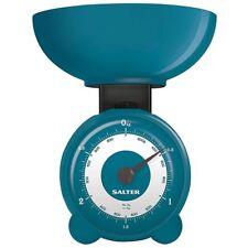 Salter Bilancia da Cucina Pesalimenti Analogica Orbitale 3Kg in Plastica Blu 139