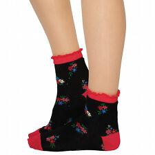 Jonathan Aston Sprigette Ankle Socks. 80% Cotton 17% Polyamide 3% Lycra. Floral
