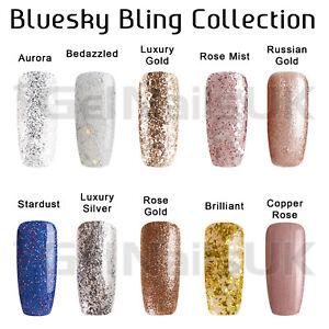Bluesky Gel Polish BLING COLLECTION Glitter UV LED Soak Off Nail Free Postage