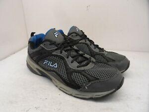 FILA Men's Low-Cut Windshift 15 Athletic Running Sneakers Grey/Blue Size 13 4E