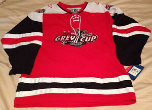 NWT Vintage 2009 Grey Cup Reebok CFL Sewn Stitched Jersey Youth Size XL