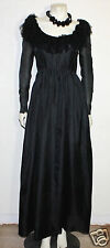 Bill Blass vintage black organza and lace event dress gown 10 w/ hanger