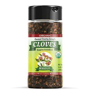 Organic Cloves Whole Raw, Premium Quality Spice Fairtrade in Glass Jar 1.41 oz