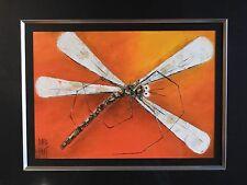 David Hart Oil Painting  Original Dragonfly on Canvas Stunning piece