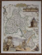 Decorative County Map Of Oxfordshire, By Thomas Moule 1830 Blenheim, Radcliffe L
