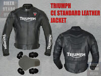 Triumph Motogp Motorbike Leather Jacket Motorcycle Racing Jacket RED VIEW