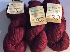 New listing Lot Of 3 Patons Ballybrae 100% Wool Yarn with Natural Oils 264 Maroon Tweed