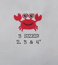 CRAB Beach Digital Machine Embroidery Design File Download Animal Mini Small 4x4