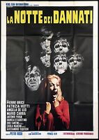 LA NOTTE DEI DANNATI MANIFESTO FILM HORROR SEXY PETER RUSH 1971 MOVIE POSTER 4F