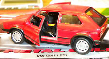 WELLY  DIECASTN MODEL TOY VOLKSWAGEN GOLF GTI MK RED