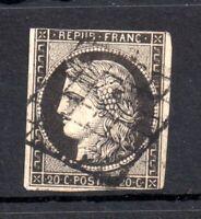 France 1949-50 20c black ceres fine used imperf WS14959