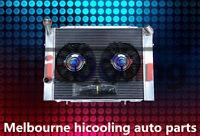 Aluminum radiator VB VC VH VK V8 1979-1986 Manual & two Fan for HOLDEN COMMODORE