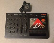Tascam Mini Studio Porta 3 Cassette 4 Track Recorder Original Adapter TESTED