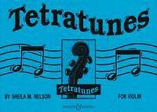 TETRATUNES for Violin by Sheila M Nelson. Sheet music book