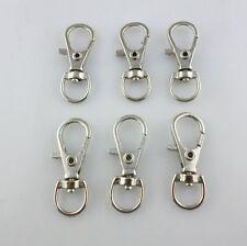 10pcs Plated Silver Lobster Swivel Hooks Clasps KeyChain Key Ring 11*32mm