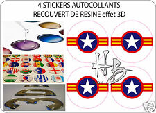 SUD VIETNAM Force Aérienne Avion Cocarde 50mm Sticker Autocollant X4 en resine