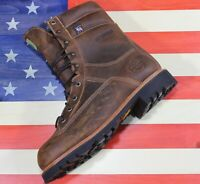 """Wood N Stream 9"""" Crazyhorse Brown Leather Hunting Boot [7005] Fact2nd USA Made"""