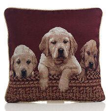 """Labrador chiens Tapisserie Coussin Couverture 18x18 """" (45x45cm)"""