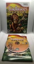 SimAnimals Africa - Sim Animals - Complete CIB - Nintendo Wii