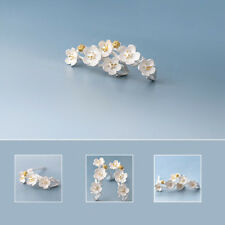 Retro plum blossom earrings silver plated earrings national wind design Fashion