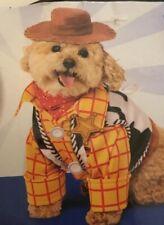 Toy Story Sheriff Woody Pet Costume Size M or L Shirt w/Attach Vest Hat Bandana