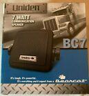 UNIDEN BEARCAT BC7 PORTABLE 7 WATT COMMUNICATIION SPEAKER BLACK - NEW